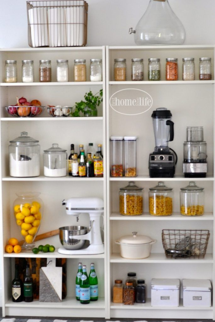 Create An Open Shelving Pantry With Ikea Shelves: Best 25+ Bookshelf Pantry Ideas On Pinterest