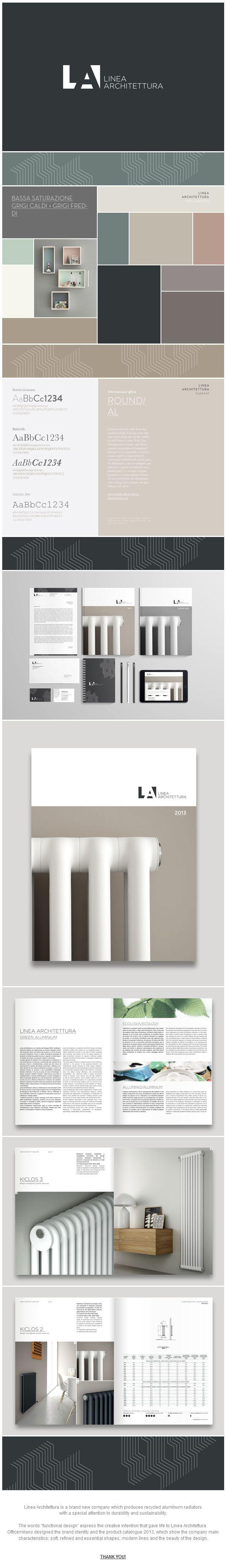 Linea Architettura | Brand Identity & Catalogue 2013 by Officemilano http://www.behance.net/officemilano