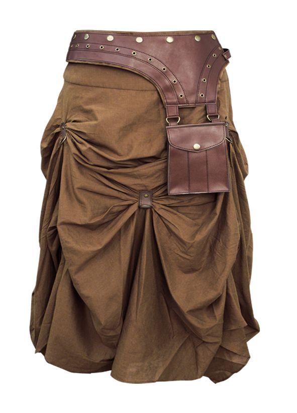 The Violet Vixen - Burnished Empire Steampunk Brown Skirt, $105.00 (http://thevioletvixen.com/clothing/burnished-empire-steampunk-brown-skirt/)