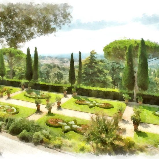 Castel Gandolfo: garden of the Villa Barberini