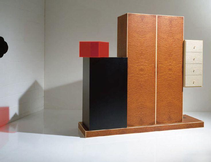 Original design wardrobe / wooden / with hinged door by Ettore Sottsass OAK DESIGN