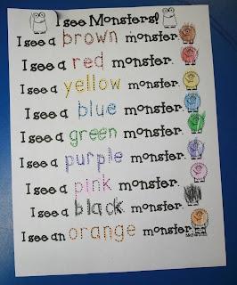 Mrs. Mayas' Kindergarten: M is for Monster! & Pumpkin Preview