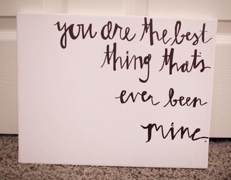 11x14 Hand painted canvas Taylor Swift song lyric. $20.00, via Etsy.
