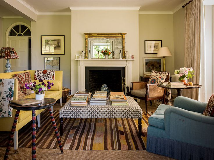 """Eclectic English decorating by Ben Pentreath: """"This is my own house in Dorset, a 19th century former Parsonage."""""""