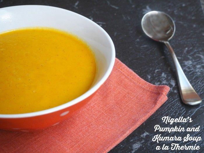 Thermomix Pumpkin and Kumara Soup a la Thermie