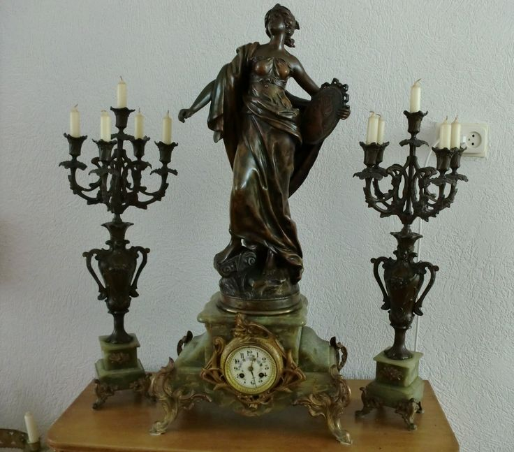 Delicate Art Nouveau Figural Lady Lamp w/ Hand Blown