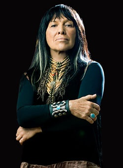 Buffy St. Marie~ Buffy St. Marie is a Canadian Cree singer-songwriter, musician, composer, visual artist, educator, pacifist, and social activist. She was born Beverly Sainte-Marie in 1941 on the Piapot Cree Indian reserve in the Qu'Appelle Valley, Saskatchewan, Canada