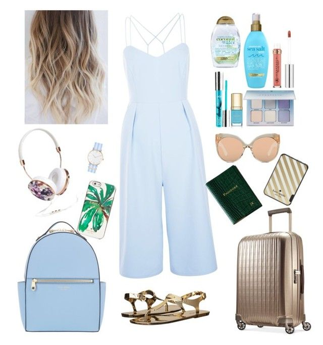 """Weekend Vacation"" by cavffeine ❤ liked on Polyvore featuring New Look, Organix, Dolce&Gabbana, PurMinerals, Hartmann, MICHAEL Michael Kors, Tavik Swimwear, Linda Farrow, Kate Spade and Anastasia Beverly Hills"