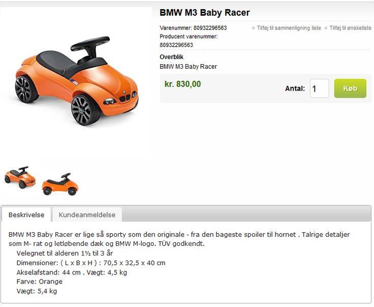 BMW M3 Baby Racer - http://www.pr-design.dk/da/bmw-baby-racer