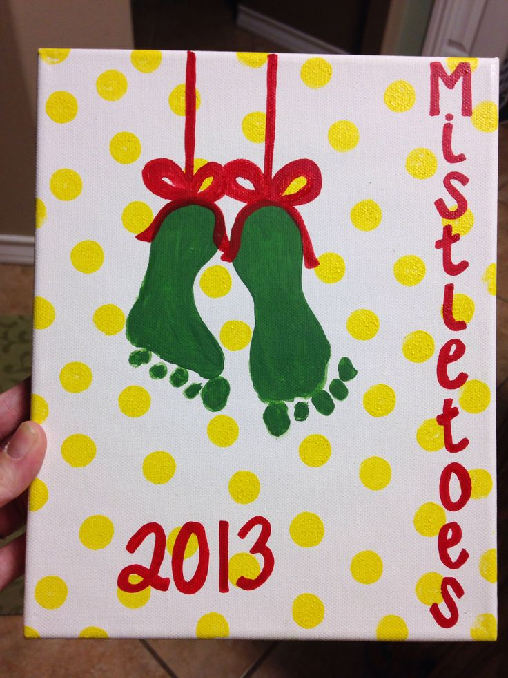 Baby Mistletoes Feet Holiday Art