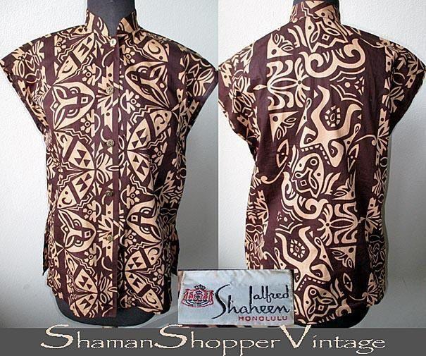 "Shaheen Tea Timer shirt is a 100% cotton ""Tiki Pareau"""