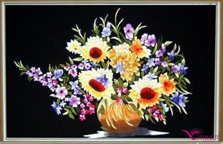 Vietnam hand Art  embroidery Picture- a5 my website: http://vinaem.vn/