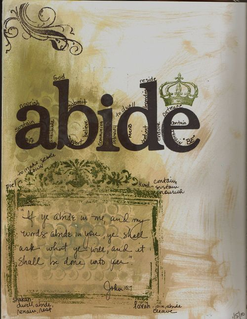 Abide page 1 - faith art journal