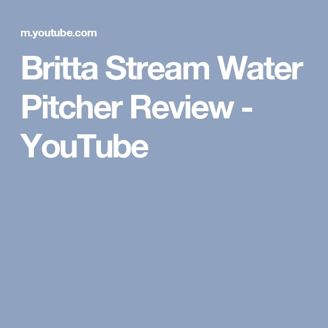 Britta Stream Water Pitcher Review - YouTube