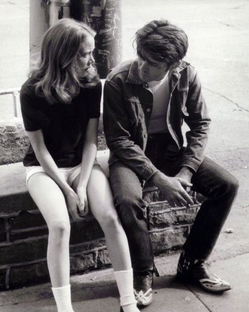 "Sissy Spacek & Martin Sheen on the set of Badlands (1973, dir. Terrence Malick)  Sheen: ""One night I got a call saying that [Malick] decided to use me and would I be willing to do it. And I said, 'Why sure, I'd be happy as Larry'. [The next morning], I was driving along Pacific Coast Highway and I was listening to a Dylan song called Desolation Row..and suddenly it dawned on me what had just happened - that I had the role of my life. And I began to weep uncontrollably"