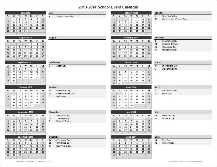 calendar template by vertex42 com - 17 best ideas about school calendar on pinterest disney