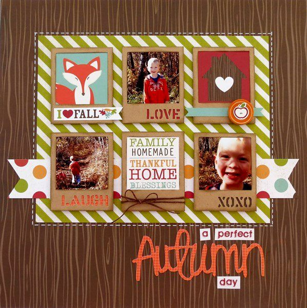 #papercraft #scrapbook #layout. Searchwords: A Perfect Autumn Day **My Creative Scrapbook**