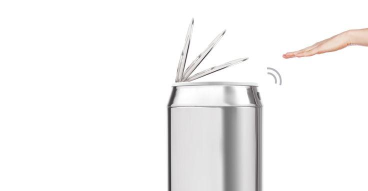 Sensé Can automatisch öffnender Eimer 42 L, Edelstahl