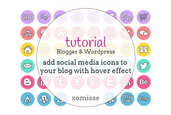 how to add social media buttons to blog // xomisse.com