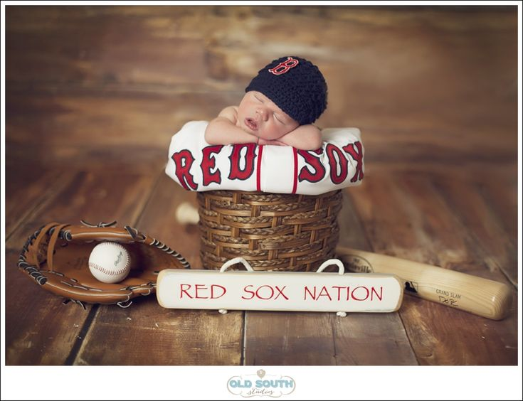 Charlotte+Newborn+PhotographerBaby+Brant, newborn Red Sox, newborn baseball
