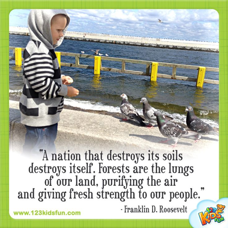 """""""A nation that destroys...""""  #quotes #earthday #roosevelt #kids #world"""