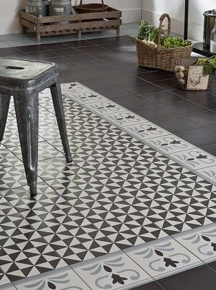 Carrelage carreau aspect ciment bordure valvane 20 20 saint maclou floor pinterest saint - Saint maclou carreau ciment ...