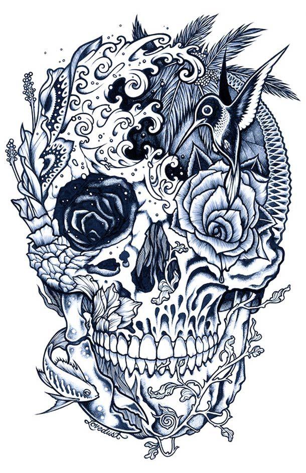 Tatouages et Jolies Filles – 21 superbes illustrations par Adam Isaac Jackson (image)