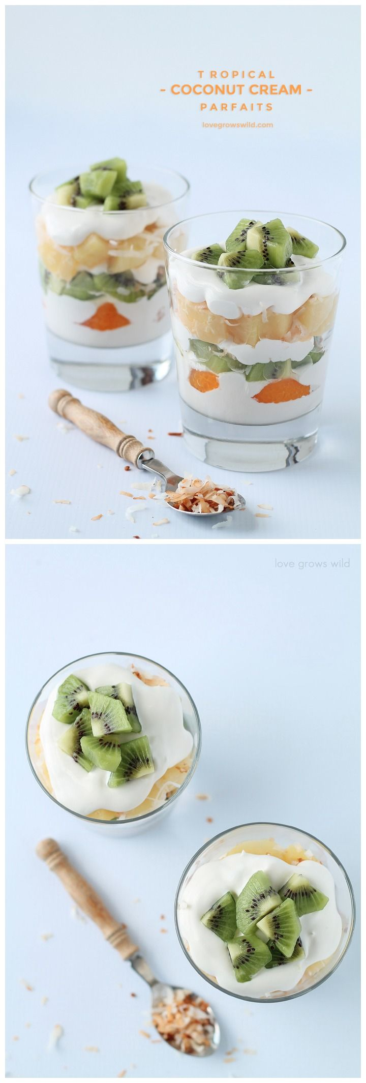 Tropical Coconut Cream Parfait