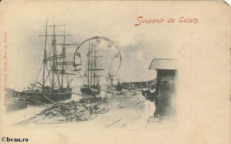 """Souvenir de Galatz, Galati, Romania, anul [189_?].  Imagine din colecţiile Bibliotecii Jedeţene """"V.A. Urechia"""" Galaţi."""