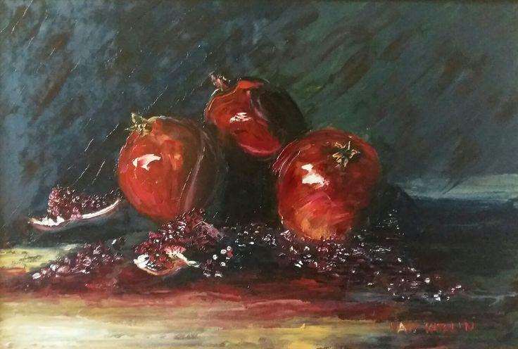 Based on Toutounov ' painting 50x60 oil wallboard