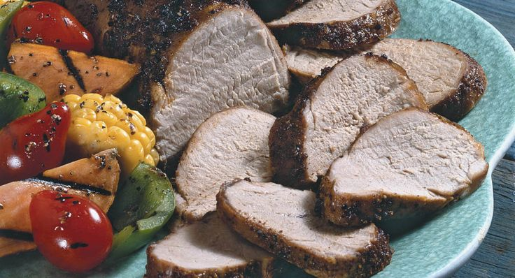 Grilled Pork Rub: Pork tenderloin, coated with an exciting combination of seasonings, results in a richly flavored summertime meal.