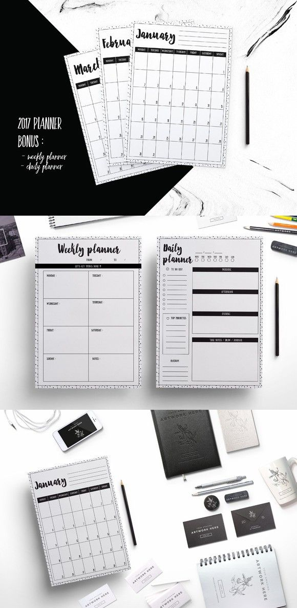 2017 planner (ink dot background). Stationery Templates. $7.00