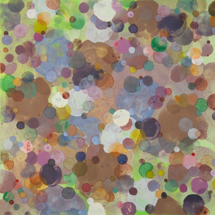 Dennis Happé, Untitled 60x60 cm, acrylic on wooden panel