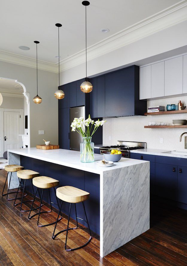 Wood and Marble | Cozy Ways To Decorate Hardwood Floors This Fall