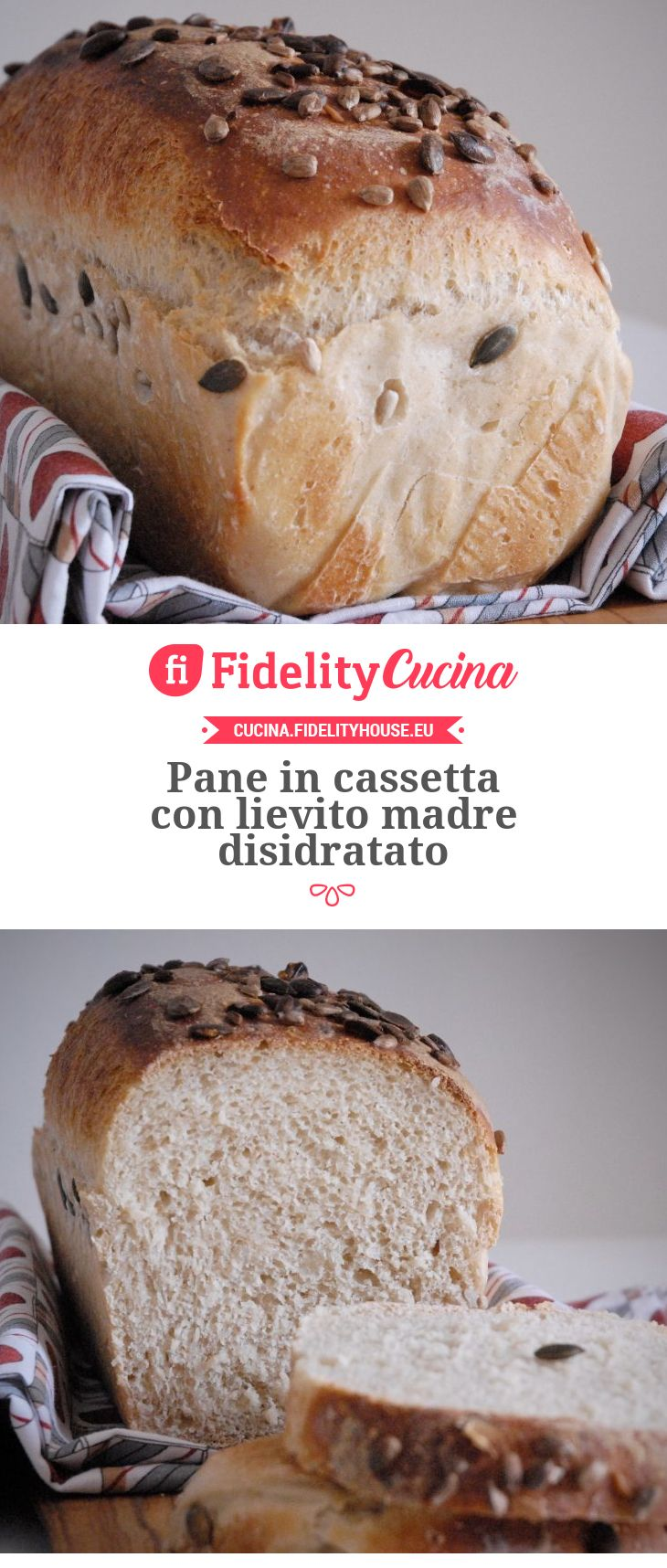 Pane In Cassetta Con Lievito Madre Disidratato Ricetta Pane In Cassetta Ricette Idee Alimentari