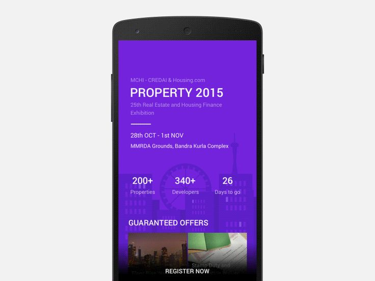 Property 2015 is a Event organised by MCHI - CREDAI where we are an event partner. Here is a mockup of the Event page for the same.  Attached a pixate file for the real feel of it. http://pixt.io/p...