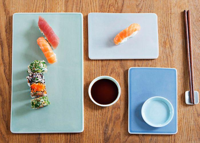 Anne Black Tilt Sushi sæt eller køb den del du mangler til dit sushi sæt.  Tinga Tango Designbutik #tingatango #designbutik #sushi #sushisæt #porcelæn #anneblack #tilt