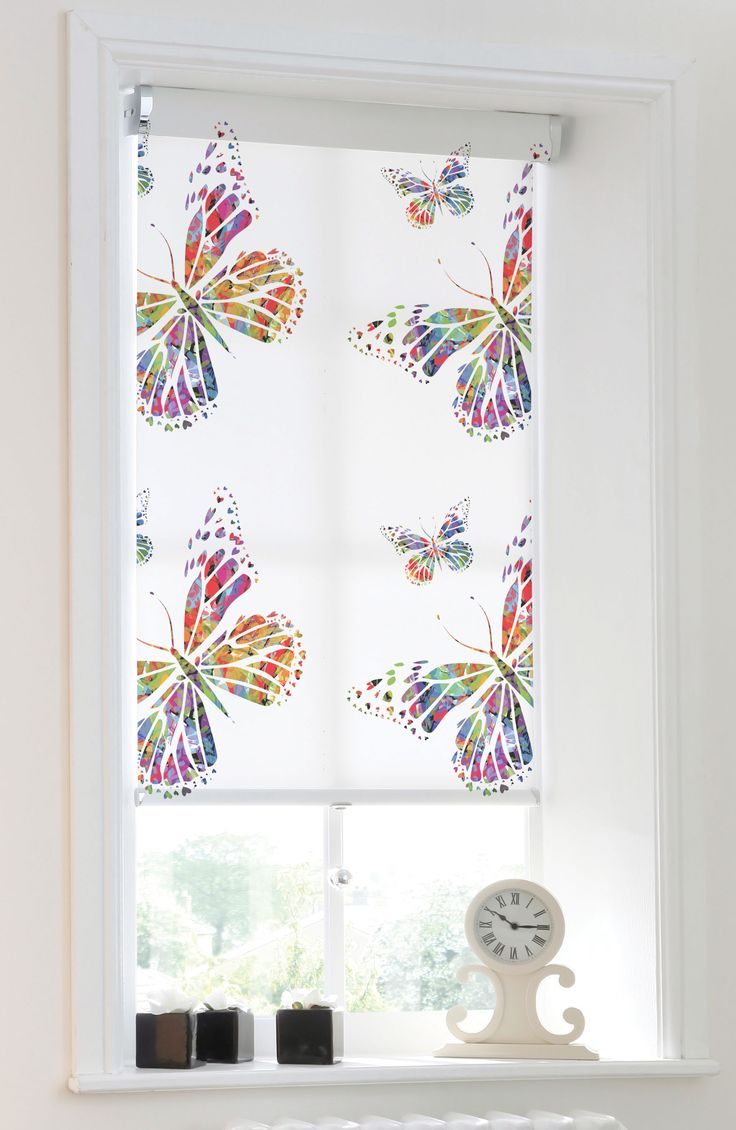 Butterfly roller blind from Apollo Blinds.