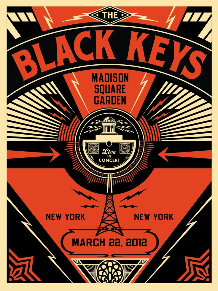 Obey Giant, propaganda artist. Black keys poster