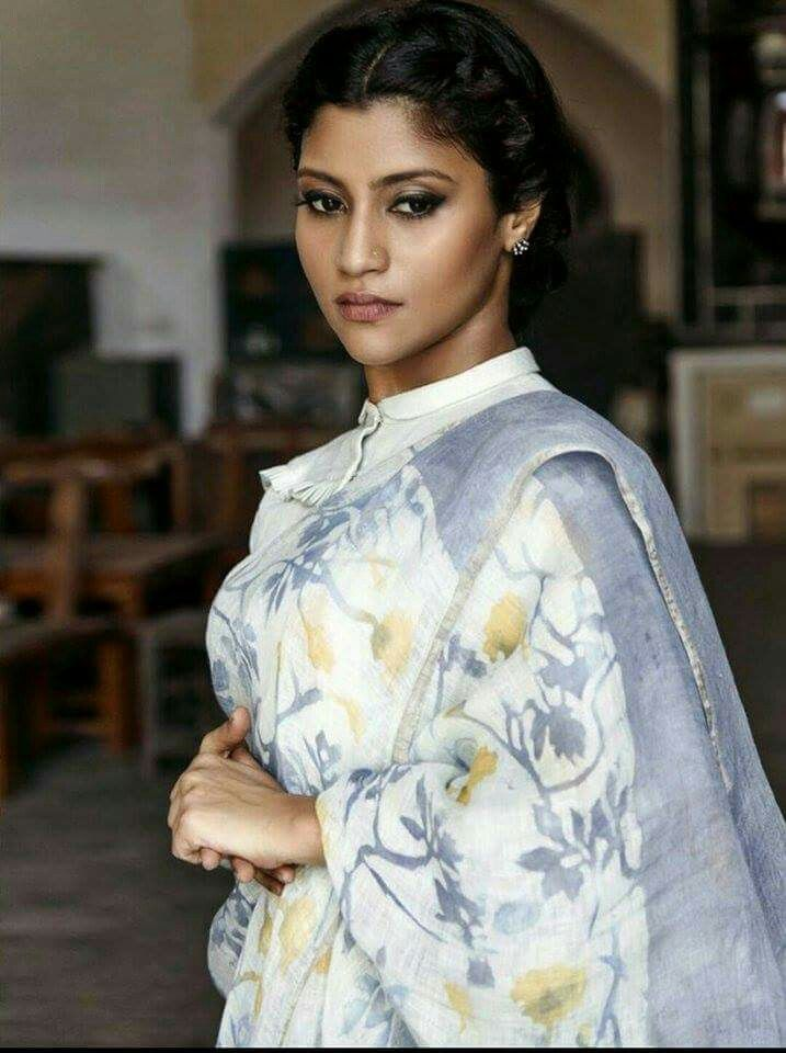Handloom linen cotton saree