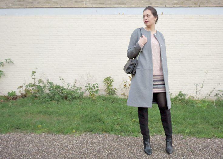 everydayCHIC / persoonlijk modeblog: OUTFIT / black, grey & pink