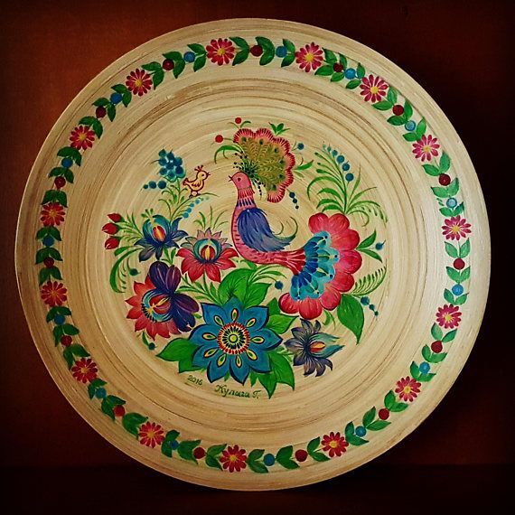 Check out this item in my Etsy shop https://www.etsy.com/uk/listing/556777032/plate-bamboo-hand-painted-ukrainian