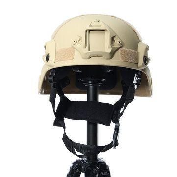 MICH 2000 Tactical Hunting Combat CS Helmet with Side Rail NVG Mount Sale - Banggood.com