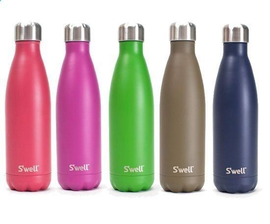 These bottles keep water cold for up to 24 hours, hot for 12, great for a day when your hands are too full to bring a cooler on board!