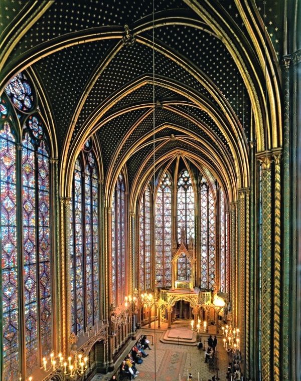 La Sainte-Chapelle: This medieval monument on the Ile de la Cité was built to house Christ's crown of thorns, which King Louis IX (Saint Louis) bought from the emperor of Constantinople in the 13th century. Considered a veritable masterpiece of Gothic architecture, it features 600 sq. m (6,460 sq. ft.) of magnificent stained-glass windows. The architecture is so delicate that when you are inside the church, you feel as if you are in palace entirely constructed of colored glass.  Read more…