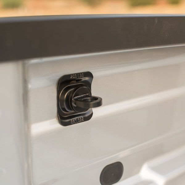2016 #Silverado 2500 Black Tie Down Rings, Bed Mounted, Set of 4: The Cargo Tie-Down Loop Package is a flexible cargo tie-down system designed for securing cargo in your truck bed. Sold in a set of four.