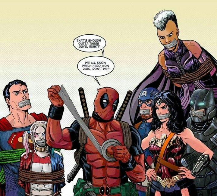 Deadpool Vs Storm Superman Harley Quinn Wonder Woman