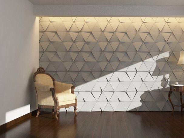 Revêtement mural 3D en béton EUCLID by URBI et ORBI