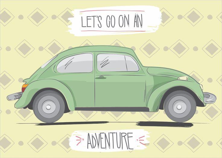 Quadro Fusca Adventure - Comprar em Grafmídia Store