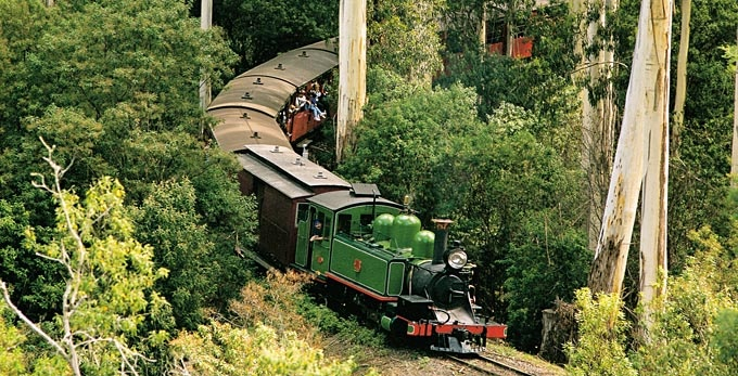 Puffing Billy in the Dandenong Ranges, Victoria, Australia